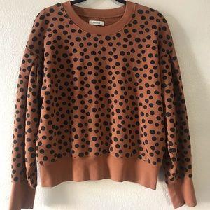 Madewell Sweater Polka Dot Large